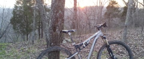 O'Shaughnessy Point mountain biking sunset