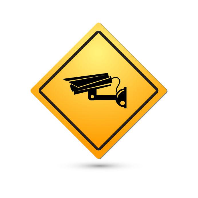 CCTV in use sign. (image credit 123rf.com)